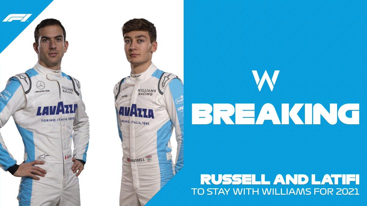 BREAKING: @WilliamsRacing retain @NicholasLatifi and @GeorgeRussell63 for next season!  #HungarianGP 🇭🇺 #F1 https://t.co/QA2yZt8Vk1