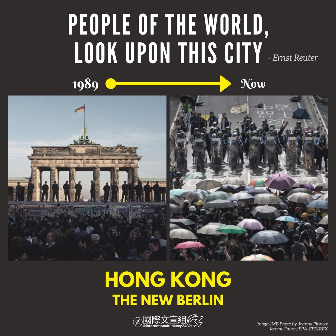 @SenatorRounds Thank you Senator Rounds.  United States another step to the right direction.  because the CCP indeed at all costs to invasion world,  Hong Kong's today, The World's tomorrow.  so We safeguard the free-world.   #NewWestBerlin https://t.co/Qd6LKuViZT