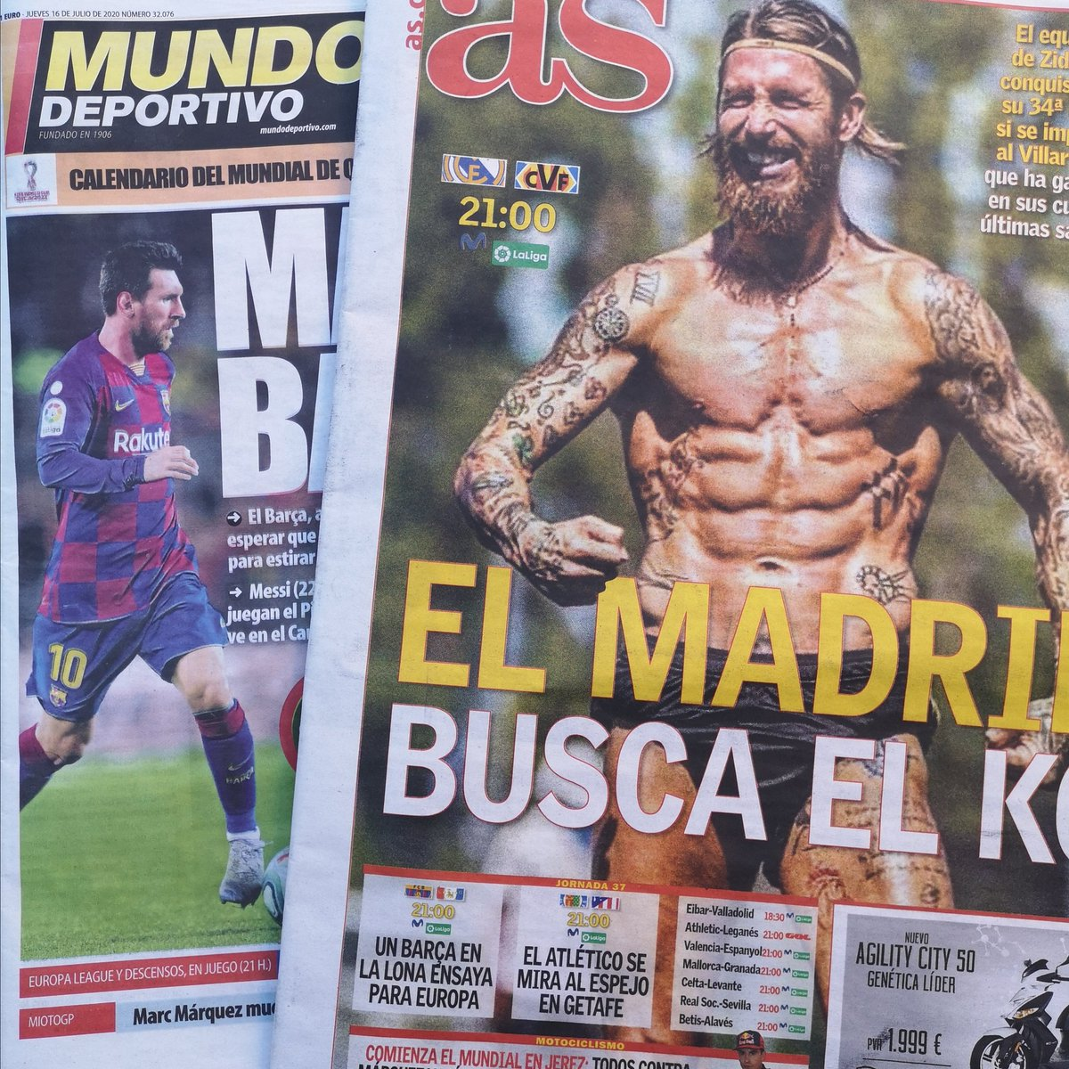 Uzivatel The Spanish Football Podcast Na Twitteru Today S Headlines Marca We Ll Go All Out As Madrid Look For The Knockout Mundo Deportivo Match Point Sport Match Point