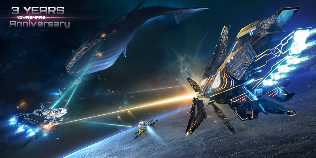 Commanders! Our 3rd anniversary promocode - BANANAPIE95 Only for 50 000 players!!!  #NovaEmpire #SpaceStrategy #MobileGame pic.twitter.com/KyeM896INy