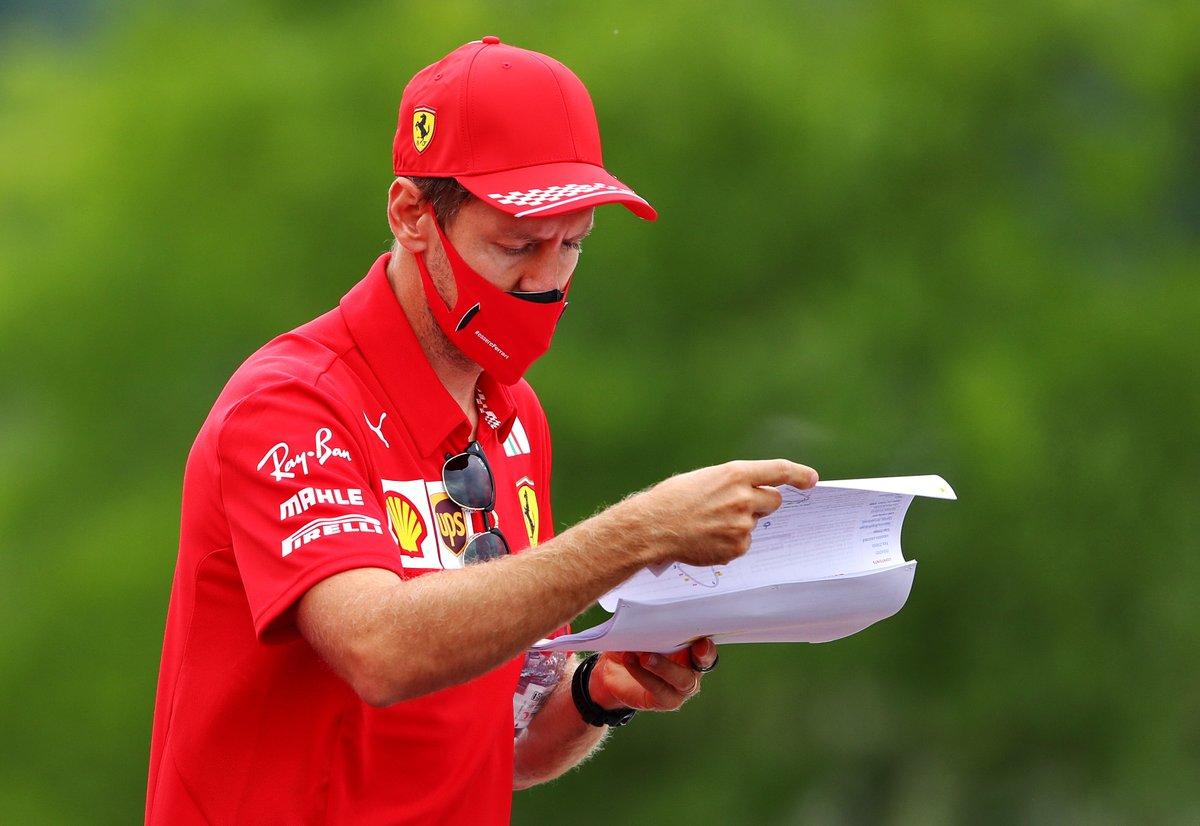 #HungarianGP @ScuderiaFerrari #TrackWalk #Seb5 @Charles_Leclerc #F1 📸Getty https://t.co/xjFdpCNskb