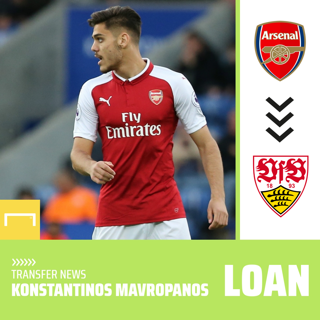 OFFICIAL: Dinos Mavropanos has joined Stuttgart on loan after signing a new contract at Arsenal 📝 https://t.co/bnZBcgPajE