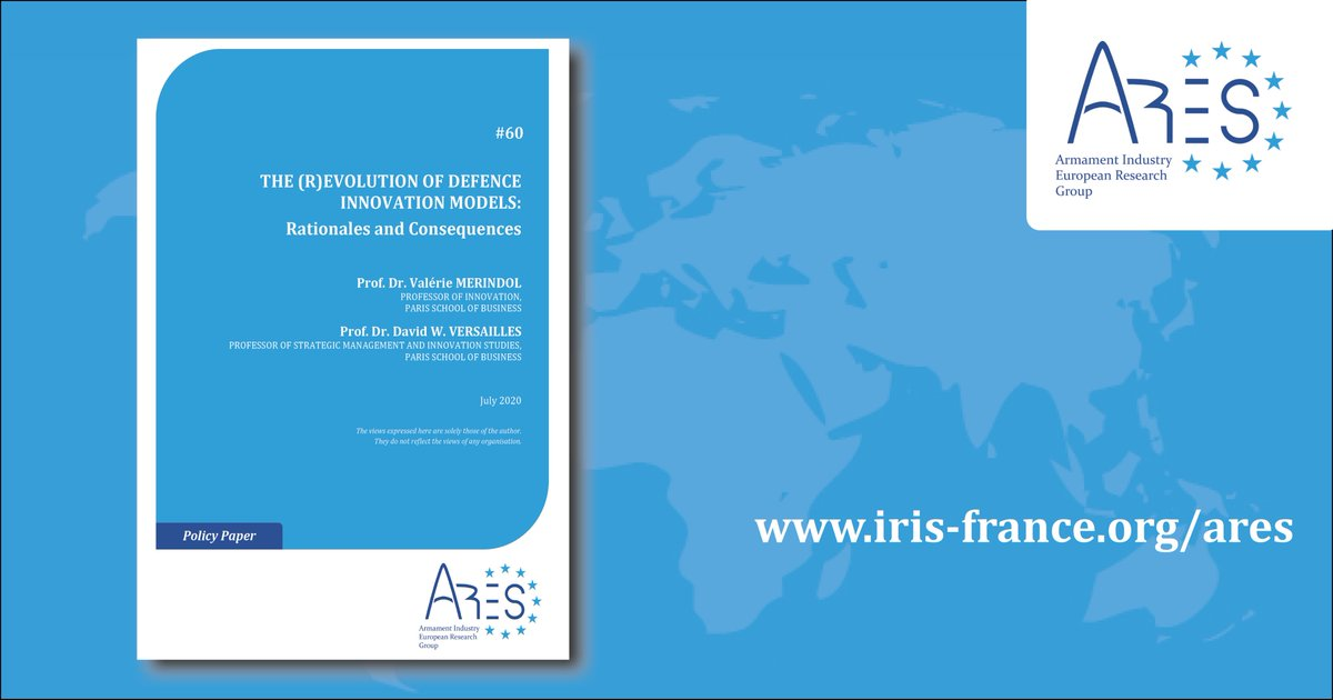 ARES launches a new series of papers on (R)evolution of defence innovation  in EU and consequences on defence procurement. The first one by @VMerindol & @DWV13. National case studies will follow soon @InstitutIRIS  @Psbeduparis @defis_eu @EUDefenceAgency https://t.co/DCPvqdT0z0