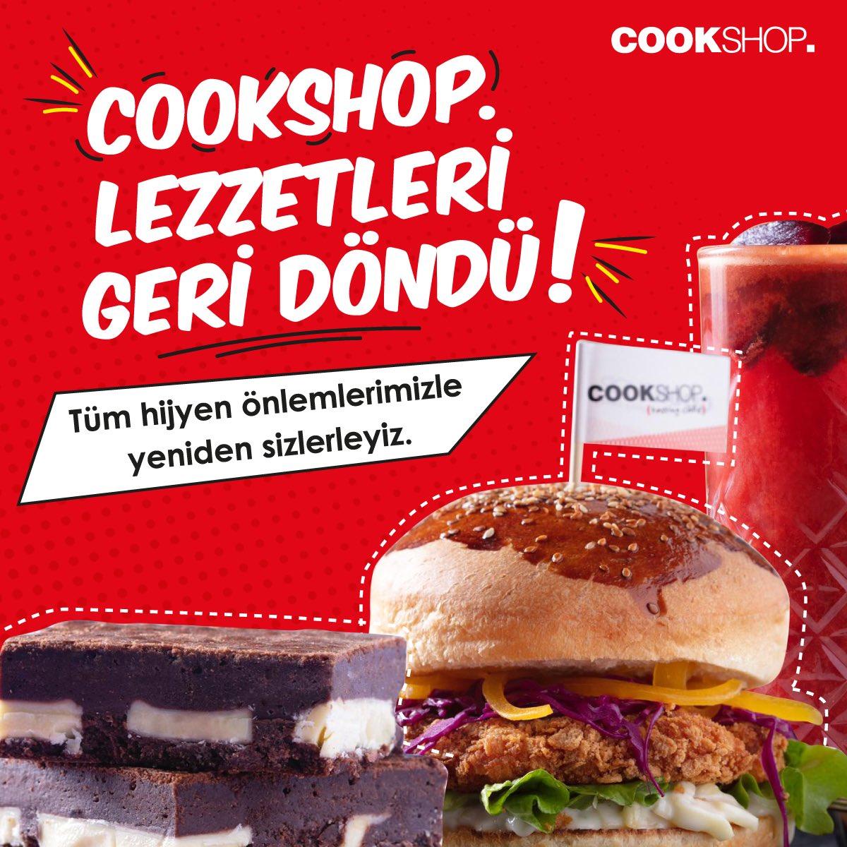 CookShop lezzetleri geri döndü!😍 Tüm hijyen önlemleri ile Gordion'da yeniden hizmetinizde!😍 #cookshop #gordionlife https://t.co/vkrHI7MYKU