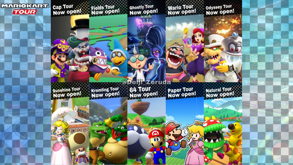 mario kart tour exploration tour characters