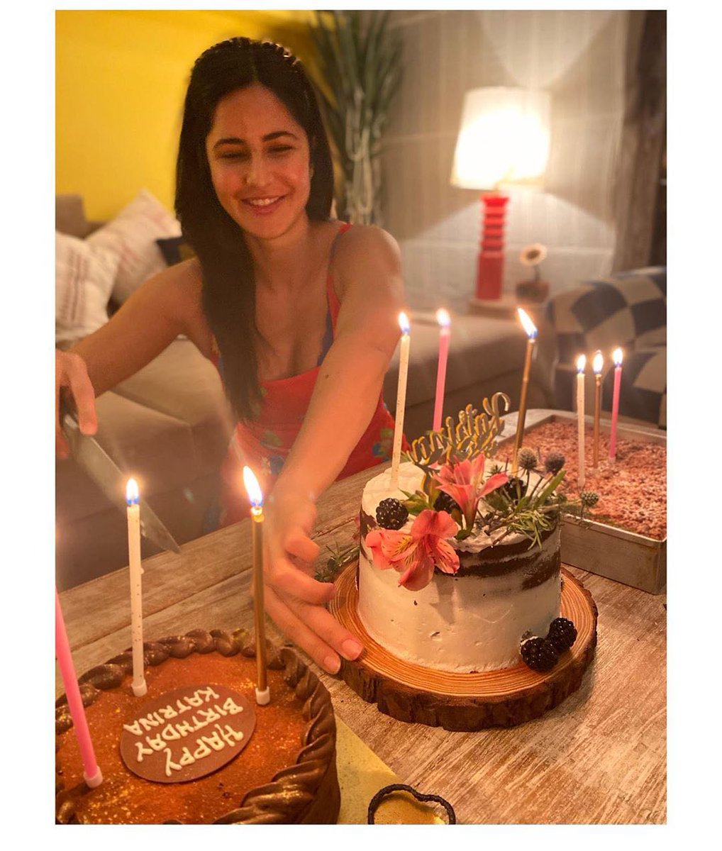Cause even a quarantine birthday is incomplete without cake. #KatrinaKaif