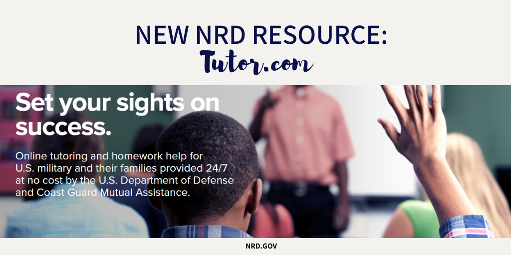 🚨NEW @NRDgov RESOURCE ALERT: 🚨  @tutordotcom provides #free online tutoring and homework help for U.S. military and their families.👇  For more information, visit: