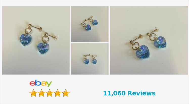 New 9ct Yellow Gold Swarovski Crystal Aqua AB 10mm Heart Drop Stud Earrings | eBay #9ct #gold #blue #aqua #heart #stud #earrings #handmade #gifts #jewellery #accessories #love #giftsforher #giftideas #jewelry #pretty #cute #UKHashTags #jewelryaddict