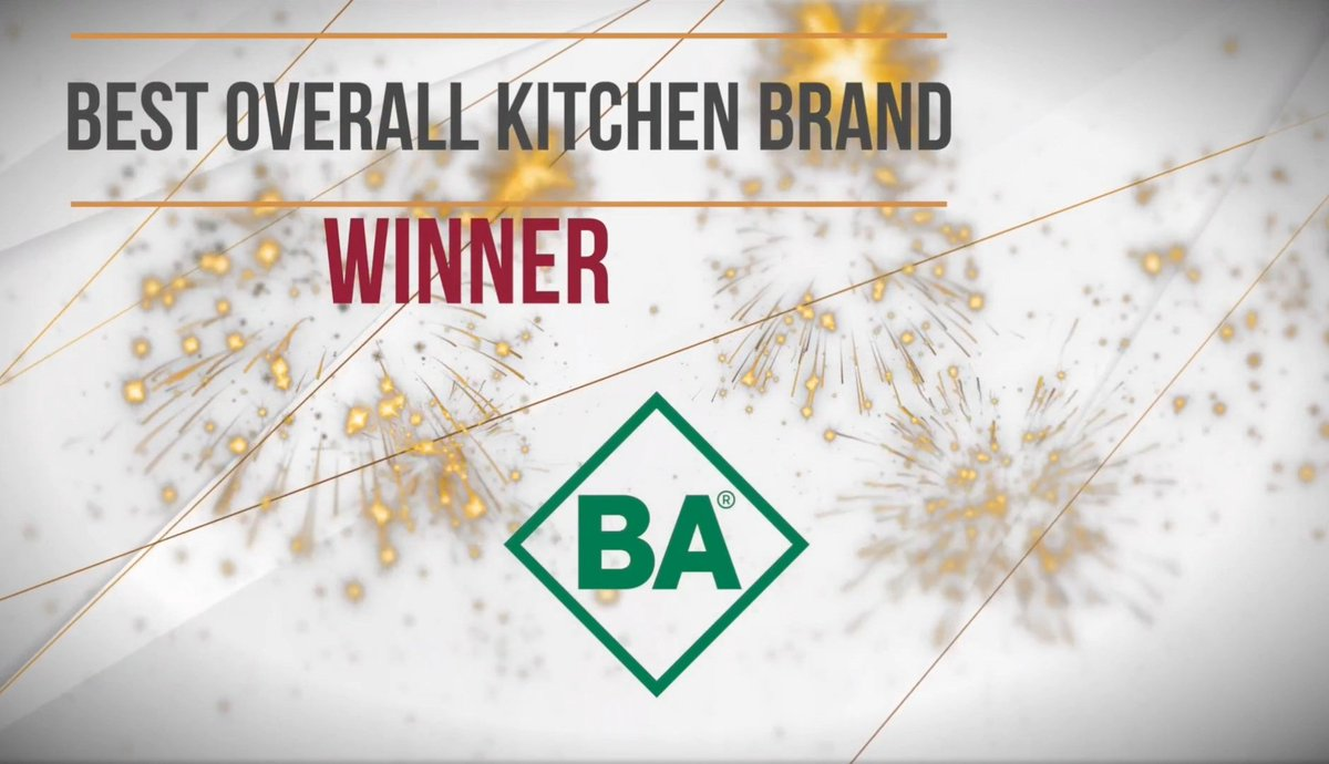 It's happened and it feels good, after all the hard work every one in this business has put in! Best Overall Kitchen Brand Winner at this year's @BKUmagazine Awards 2020! #Winners #BKUAwards #BA #WeMakeTheDifference #KBB
