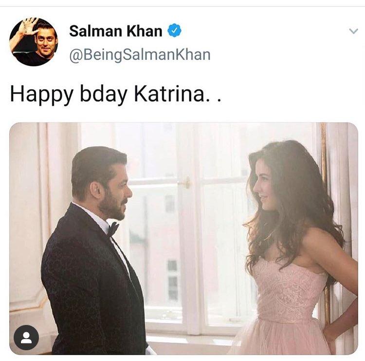 @BeingSalmanKhan 's birthday wish for #KatrinaKaif 🎂❤️  #katrinakaif  #entertainer #star #happybirthday #hbd #talent #salmankhan #happybirthdaykatrinakaif #birthdaywish #glamgirl #lockdown #quaratinecelebration #quarantine #bollywood #movietalkies