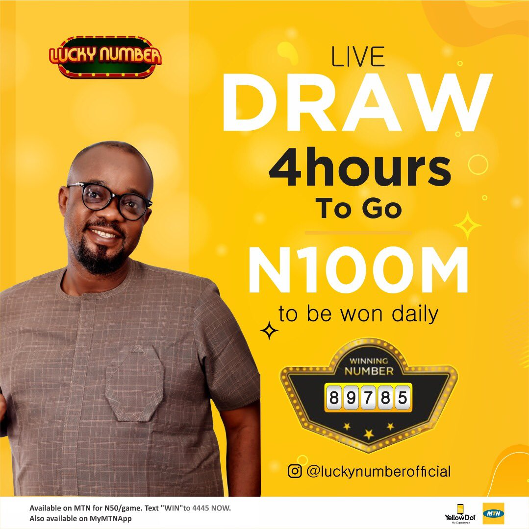 It's about to go down, Are you ready?? . 4 hours to our daily live draw, Tune in  by 6pm to be part of such awesome moment. . Text WIN to 4445 to stand a chance  #stayathomegiveawayLN #stayathomecampaign #stayhomeandbelucky #luckynumber #luckywinner #bigwin #millionaire'sclub https://t.co/dELkcYJYTA