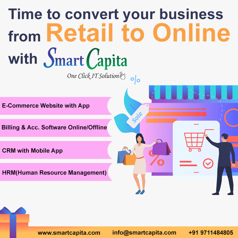 """Time to convert your business from Retail to Online With Smart Capita.""  Download the app from play store.  Billing &accounting: https://t.co/qqm6E2ZvbO CRM: https://t.co/bW9DJUAIvQ  #Google #app #CRM #smartcapita #lockdown #MSMEs  #ecommerce #online #bilingsoftware  #CRM #HRM https://t.co/JPMWc1Xs92"