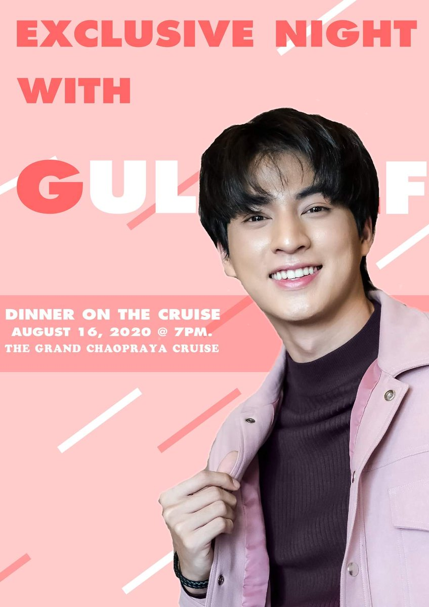 so it was an announcement for a dinner on the cruise with gulf aaaaah this will be so romantic my broke and non-thai ass can't relate  #exclusivenightwithgulf <br>http://pic.twitter.com/Ui8sfYJhNu