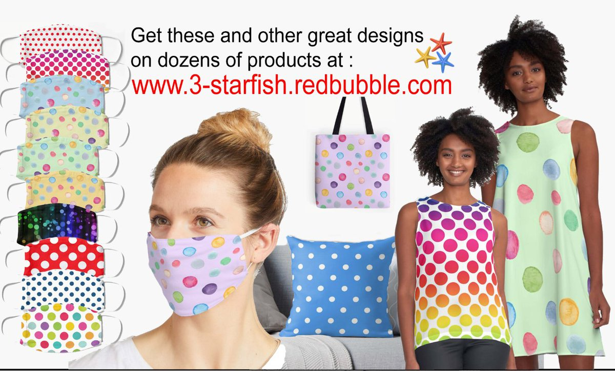 Check out our Polka Dot designs on dozens of cool products, at :  #love #fashion #beauty #photooftheday #beautiful #happy #art #nature #summer #fun #girl #style #amore #liebe #3starfish #polkadots #highstreet #cool #classy #thursdaymorning #thursdayvibes