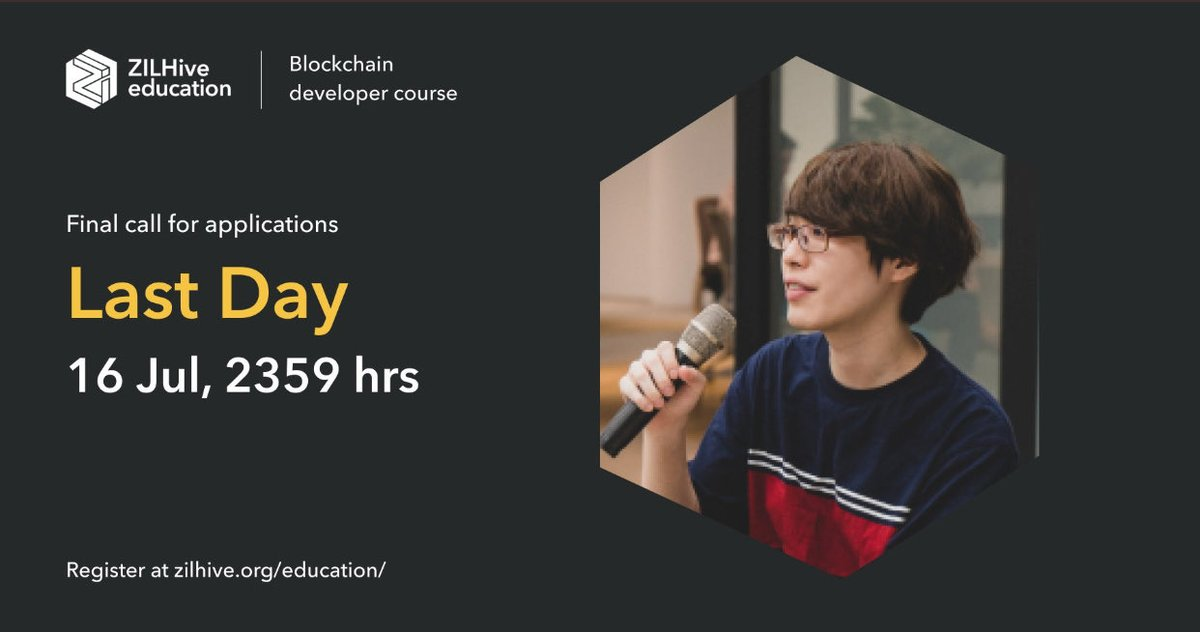 #Zilliqa is giving #opportunity to #educate yourself for the most sought after subject right now #blockchain  Today is the last day to apply   You may get #scholarship and may be a chance to work with @zilliqa team   Apply for #Blockchain developer course https://t.co/cICh1cRXPI https://t.co/hJB8a1vzsE