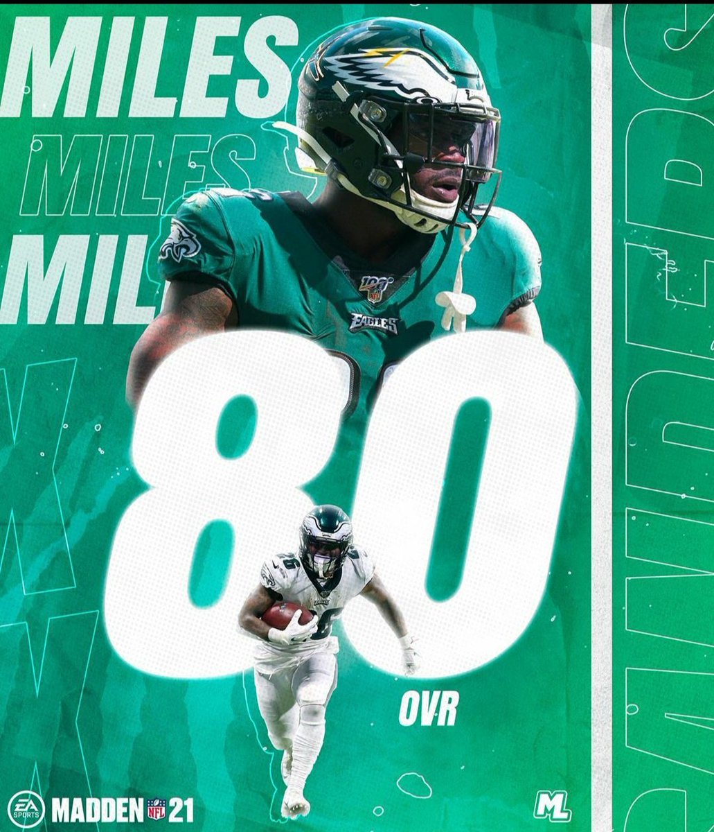 Miles Sanders gets an overall grade of 80... I think that's a little low but I won't complain too much... #FlyEaglesFly <br>http://pic.twitter.com/UqJyGRXwRH