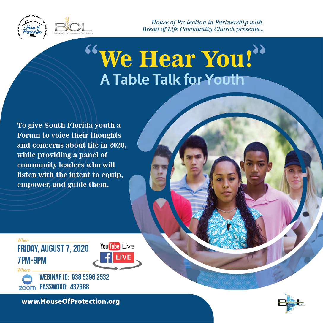 Our youth have had a lot to process in 2020. Join us as they share their hearts on issues raging from COVID-19, School, Mental Health, Protests and more. #southflorida #youth #WeHearYou #COVID19 #school #mentalhealth #protests2020 #houseofprotection #BOLCC https://t.co/1rQXqQAq32