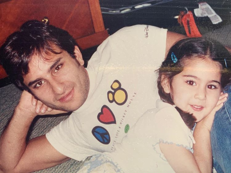 Sara shared this cute picture with Saif Ali Khan, saying- 'Love you Abba' . . . . . . . . . #saraalikhan #bollywood #deepikapadukone #aliabhatt #shraddhakapoor #salmankhan #kartikaaryan #katrinakaif #ranveersingh #priyankachopra #dishapatani #varundhawan #kritisanon
