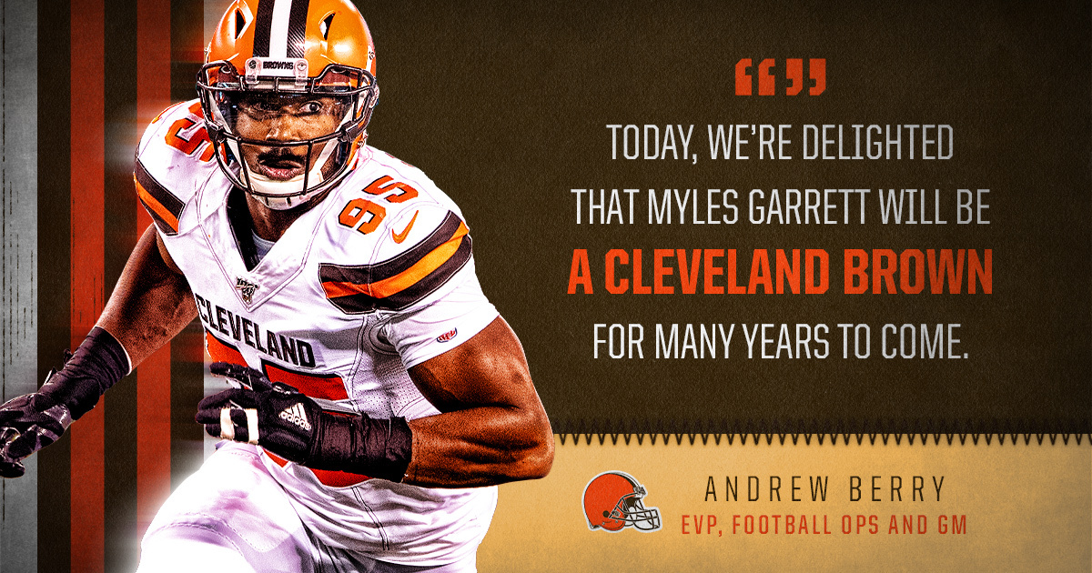 .@MylesLGarrett is a Cleveland Brown for many years to come 🙌 📰 » brow.nz/0pdk
