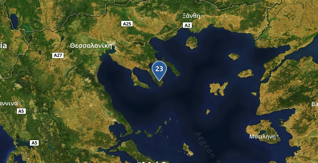 Coldest Greek location is #Sykia: 23℃ Time: 16:38:10<br>http://pic.twitter.com/dh6y6zlW5W