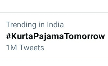 And Here's 1 freaking Million...!!! Y'all did a great great job... Congratulations and kudos to all those who participated and made this trend a huge success  #KurtaPajamaTomorrow  @OrmaxMedia @ishehnaaz_gill  @TonyKakkar @AnshulGarg80<br>http://pic.twitter.com/WuIjMUjidK