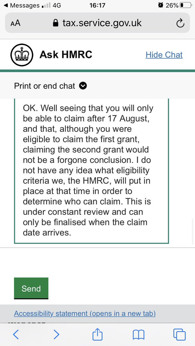 @MartinSLewis I've msged HMRC about grant 2 and me being 20% pay cut and revived this reply back