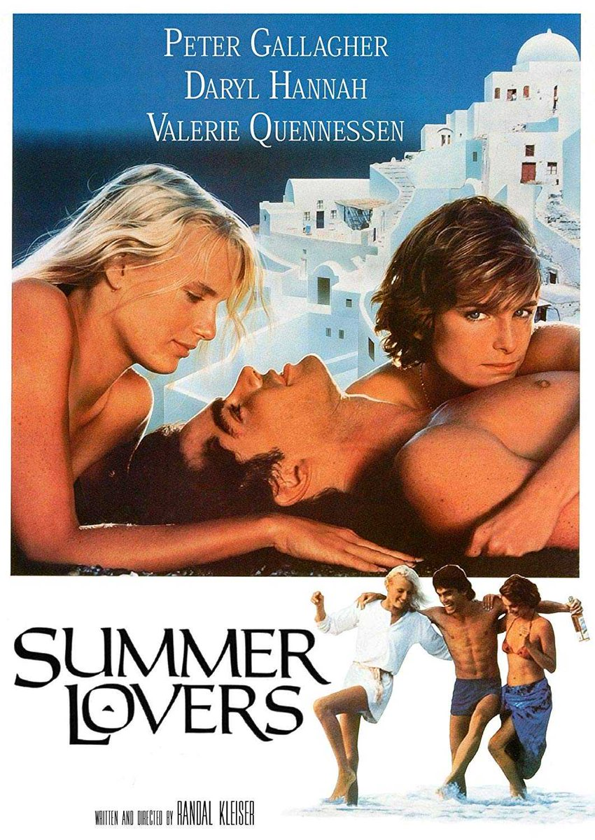"The romantic comedy ""Summer Lovers"" starring Peter Gallagher & Daryl Hannah was released in theatres today in 1982. The film features the hit singles ""Hard to Say I'm Sorry"" (a #1 hit for Chicago) and ""I'm So Excited"" (The Pointer Sisters). #80s #80smusic<br>http://pic.twitter.com/shJ0bAidUm"