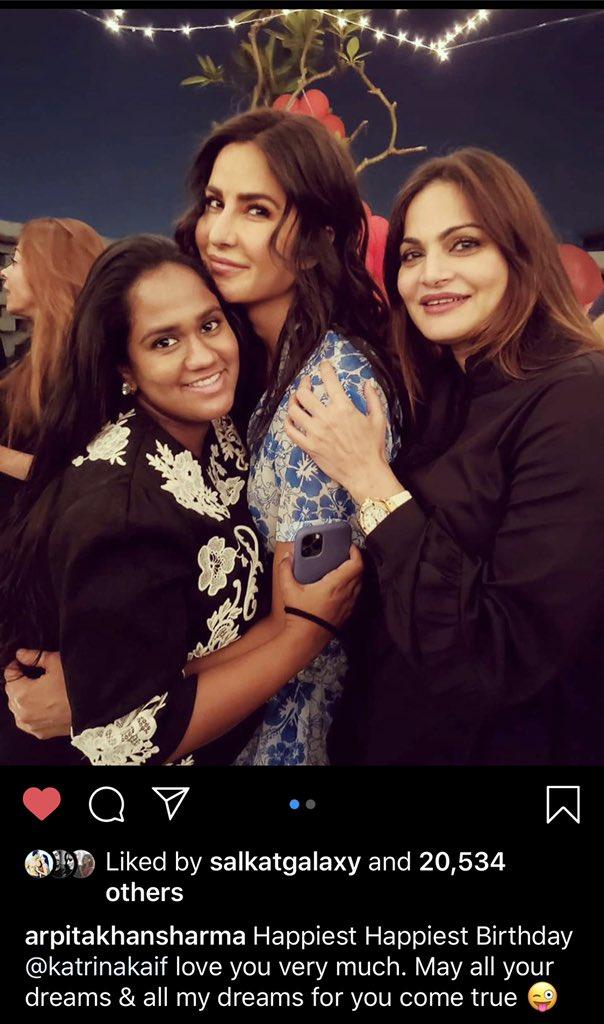 Following Aarti Shetty right away😂😂😂 OMG what is this behavior😳🥳  #HappyBirthdayKatrinaKaif #KatrinaKaif #SalmanKhan #SalKat @BeingSalmanKhan