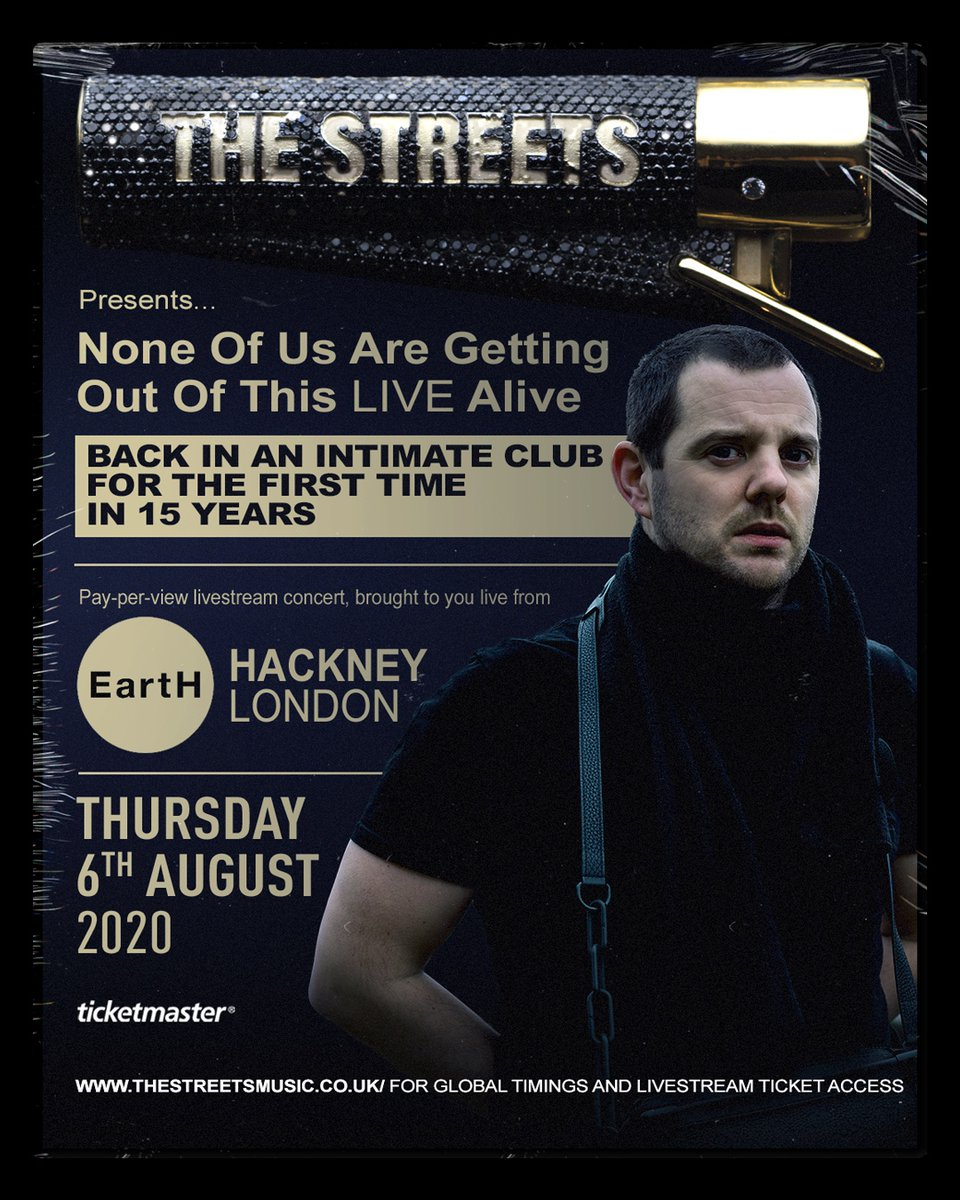 Back in an intimate club for the first time in 15 years. Tickets on general sale now thestreets.lnk.to/earthlivestrea…