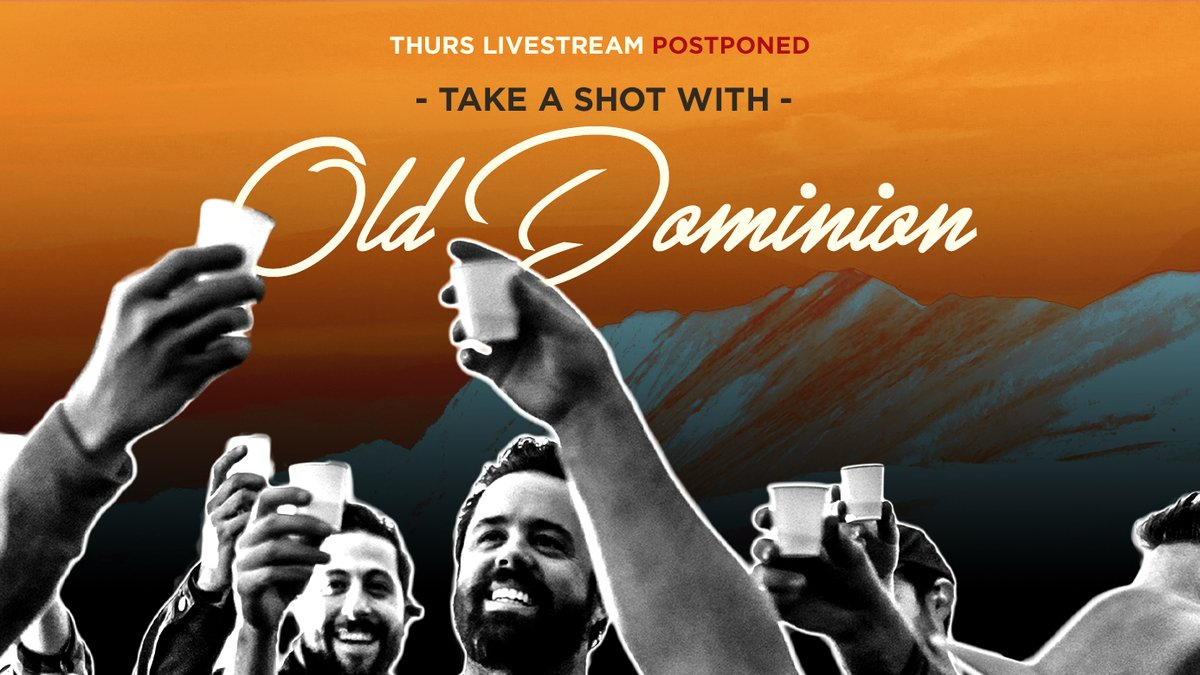 Due to unforeseen circumstances, today's livestream has been postponed. We miss y'all and regret we won't be able to hang like we had planned. But we promise to make it up to you. Keep any eye out on our socials for details on our next livestream. Love you guys. #weareolddominion https://t.co/4MJtm9Yat4