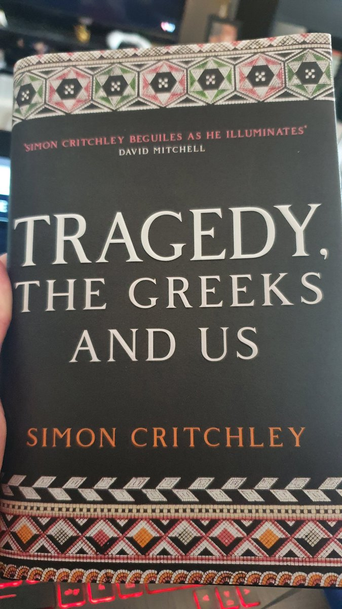 "Last year I got introduced to Critchley's ""Tragedy, the Greeks and Us"" at a @WarwickPostKant seminar. Now I've finally finished it and what a read it is.<br>http://pic.twitter.com/l8GCakMhuy"