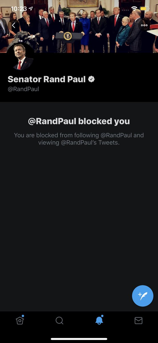 Welp...it finally happened. My proudest block, I assure you no one else has this. TEAM RAND PAUL NEIGHBOR! https://t.co/f3t242t95R