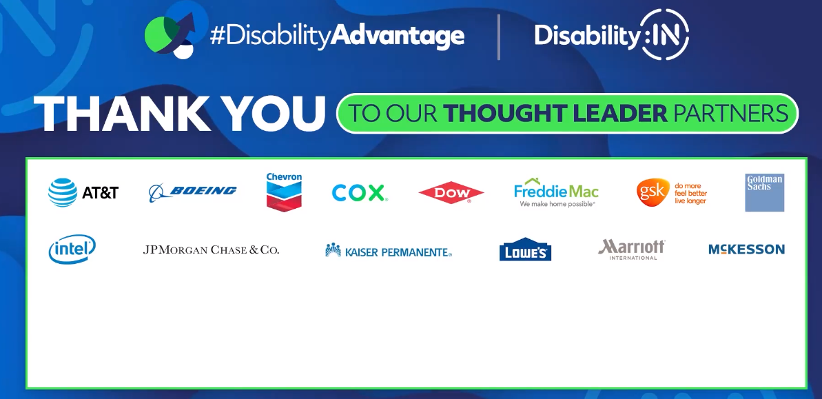 I'm #IntelProud to have @Intel be Thought Leader partner for @DisabilityIN's #DisabilityAdvantage conference. #IAmIntel #WeAreIntel #disability #inclusion https://t.co/xuXt2EHrWO