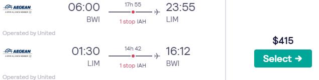 Baltimore to Lima, Peru for only $415 roundtrip (Oct-Nov dates)  #travel #Flight #deals