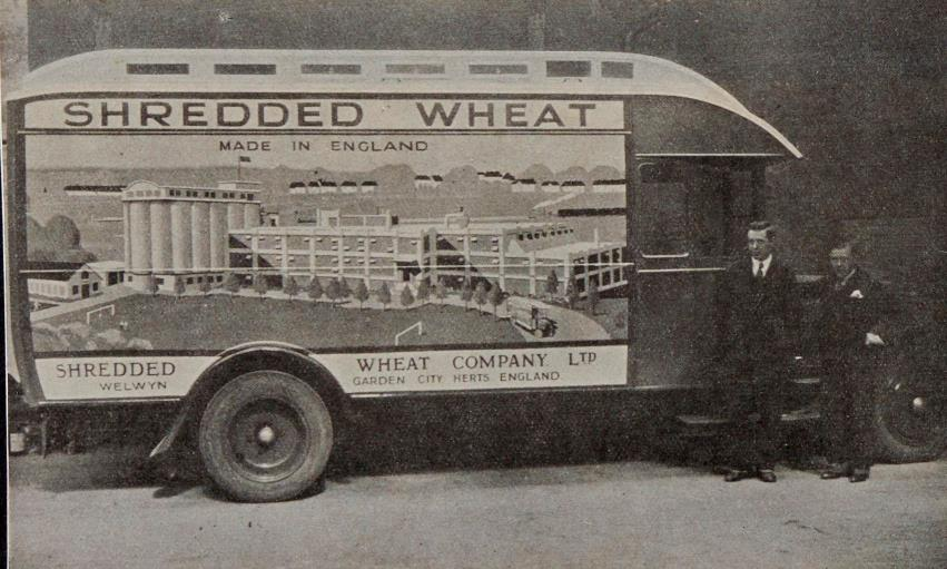 We absolutely love this photograph of a Shredded Wheat van from 1930! It shows the factory at Welwyn Garden City where it was produced until 2008 - lasting 73 years! Do you remember the smell that used to fill the air? #ExploreYourArchives #Travel #WGC100 @wgccentenary