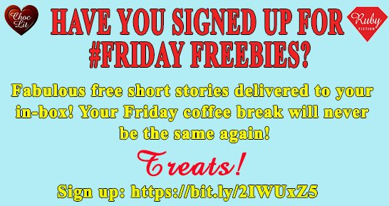 Have u signed up to receive our #FREE Treats? Gorgeous short stories sent directly to ur inbox on a Friday! U need to sign up before 10 am tomorrow to receive a fab Treat from @Helen_Bridgett Here:   #fridayfreebie #shortstory #Giveaways