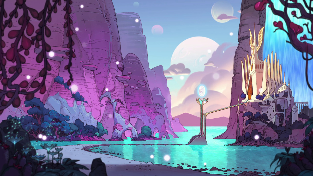 Backgrounds from She-Ra and the Princesses of Power (2018,DreamWorks Animation Television) <br>http://pic.twitter.com/XfuR01PrDt