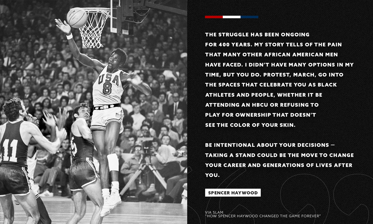 He dismissed his pre-defined purpose. @SpencerHaywood dominated the 1968 Olympic Games. And then he changed basketball forever. https://t.co/1mxQzcXs7i