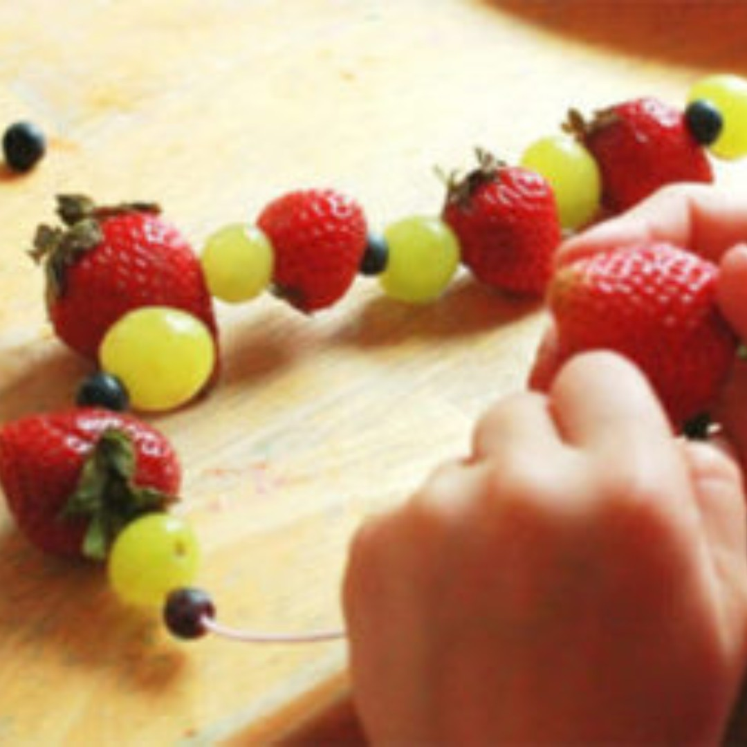 Here's a healthy and fun at-home activity for the whole family!  . . #sngomaha #happyhealthyhearts #kidsfitness #preschoolfitness #healthy #fruit #fruitsalad #recipe