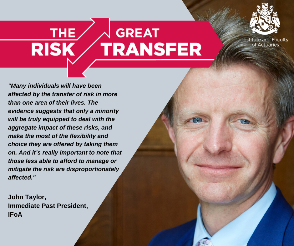 """""""The IFoA is calling for a public conversation about which risks are worth taking and who should stand behind those risks."""" Find out why we're calling for this in our interim report on the #GreatRiskTransfer: https://t.co/8YXUXlXyvQ https://t.co/6rUOhW8FcS"""