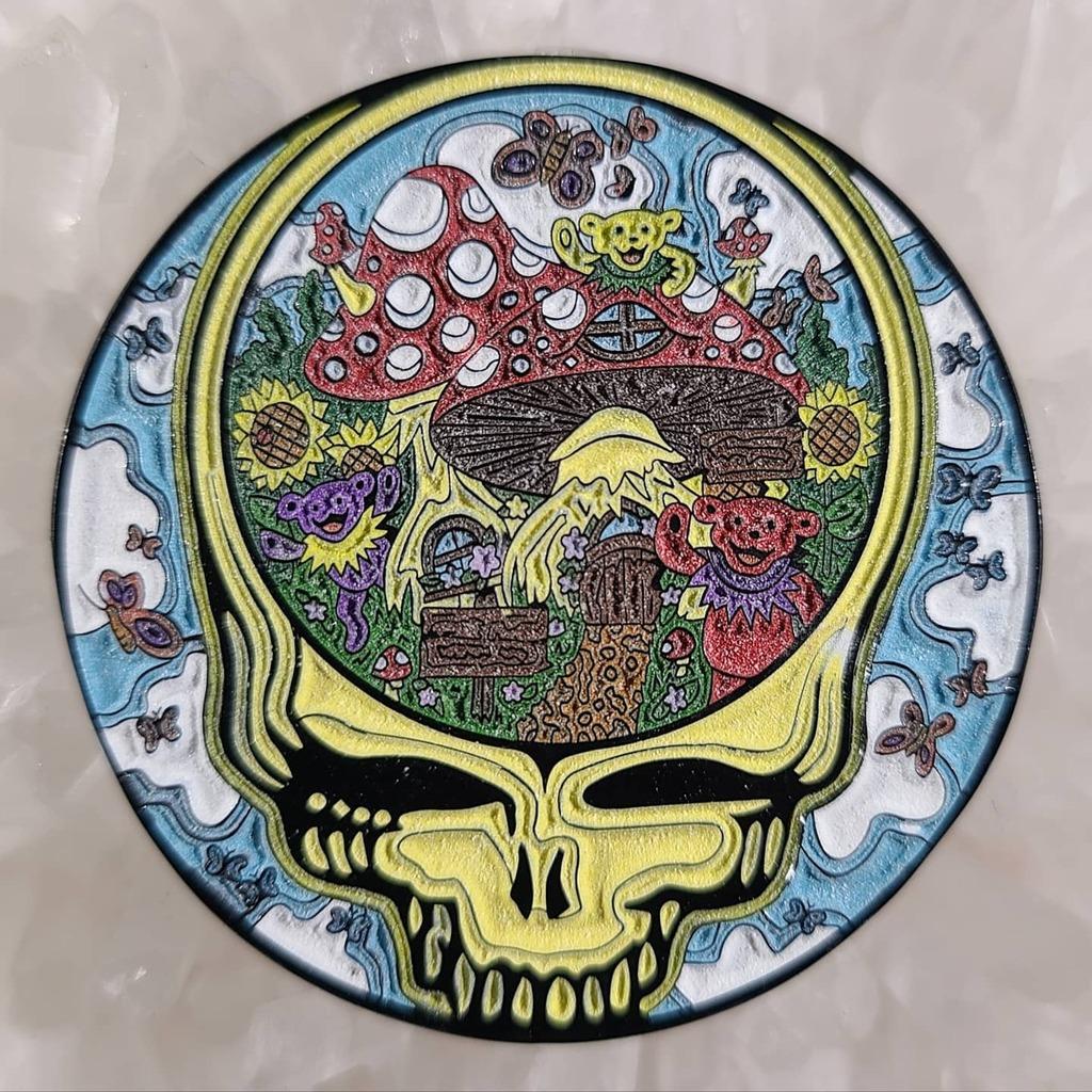 Now available on   🍄💀 #mushrooms #pins #stealie #enamelpin #gratefuldead #deadhead #hatpins #deadlot #mushroomart #glowpin #pinning #pinnation #mythicalmerch #pinpokalypse #pingame #hatpinsforsale #hippieart #thegratefuldead #dan…