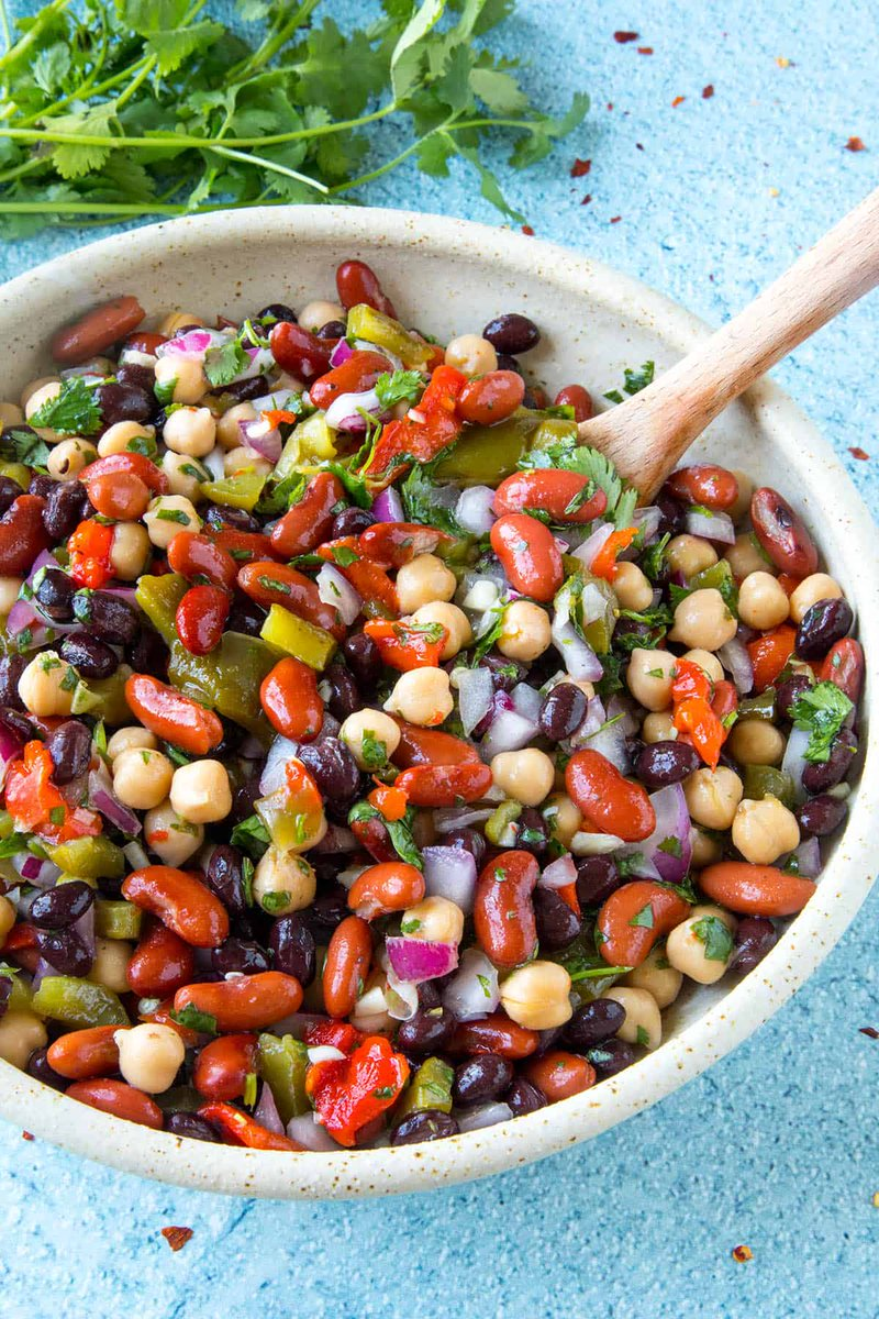 Yummy, zesty bean salad #recipe! Serve as is or over field greens: