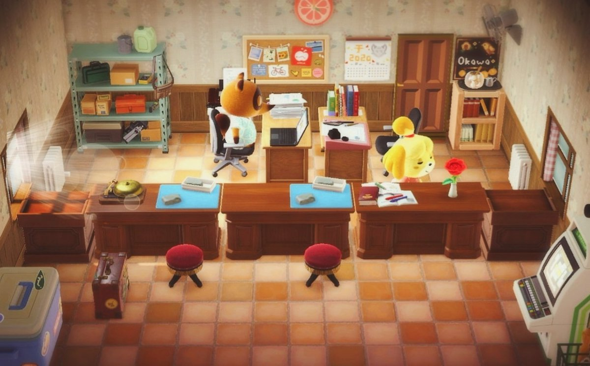 A different perspective of your favorite island resident service center 🏝️#あつまれどうぶつの森#animalcrossing#animalcrossingnewhorizons#ACNH#acnhdesigns #NintendoSwitch #マイデザイン #どうぶつの森