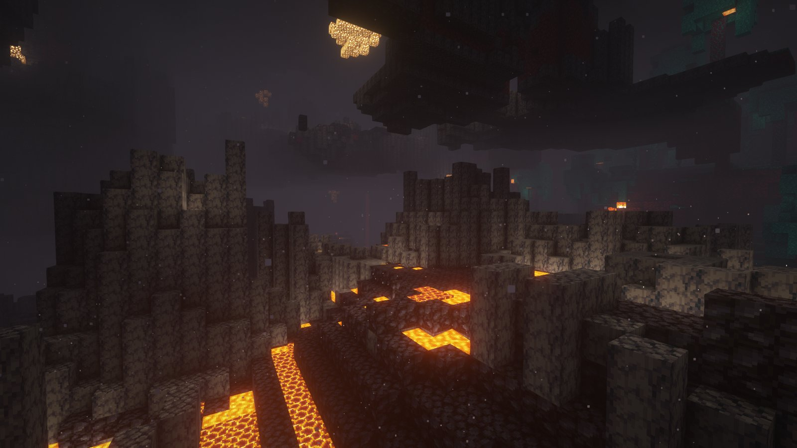 """Garrison Cahyadi on Twitter: """"Adding nether biome support on BSL Shaders,  each biome's color will be configurable. I guess basalt deltas is my new  favorite nether biome~… https://t.co/1Hv84l0XBI"""""""