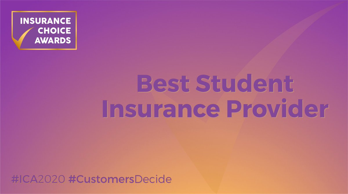 We're seeking the #best #insurance brands. Calling postgrads, grads & undergrads… help us and prospective #uni #students find the 'Best Student Insurance Provider 2020' 🏆  🗳️ today & you could win £1,000 💷  👉   #ICA2020 #Awards #CustomersDecide