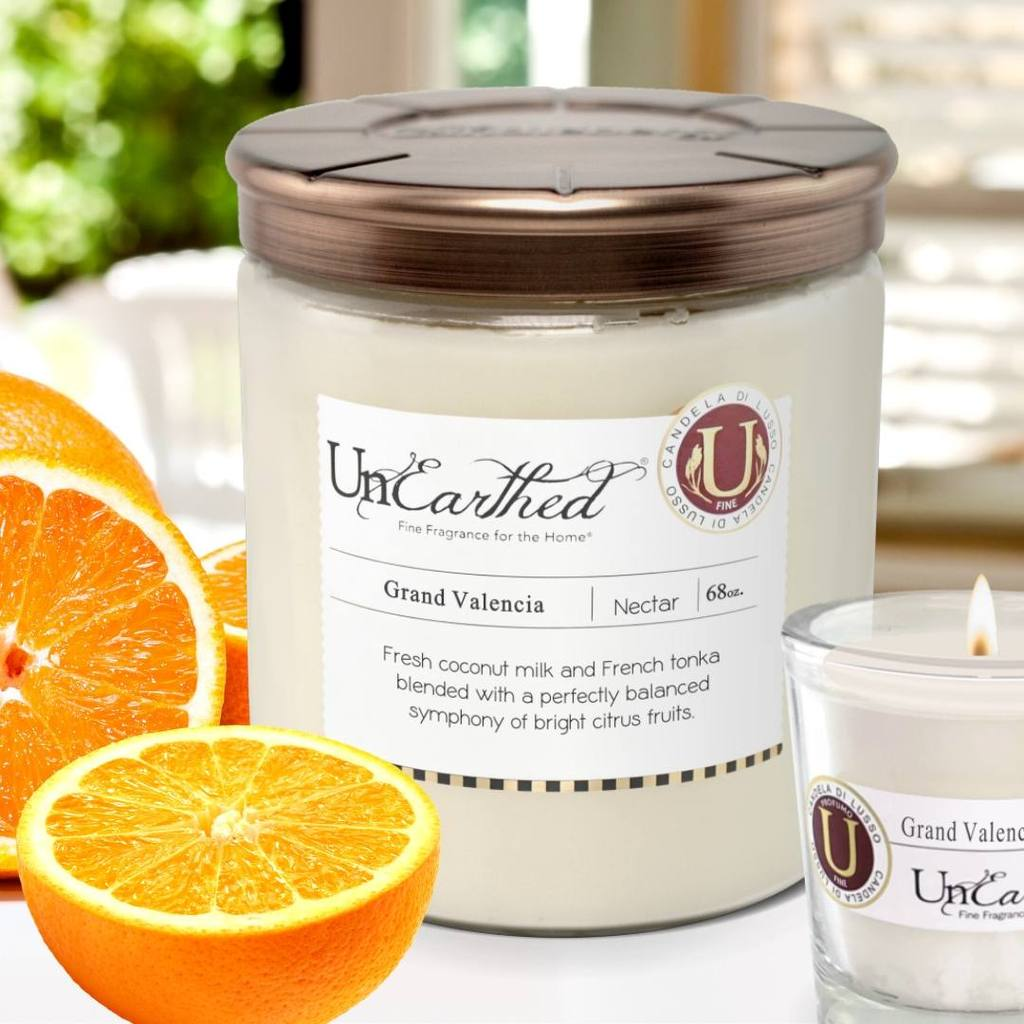 😍 Grand Valencia  - Magna Vitrum 68 oz., High Performance Scented 3- Wick Candle 😍  by UnEarthed® Luxury Candles,  $105.00.  HERE 👉👉   #premium #candles #candle #love #luxurylife #best #love