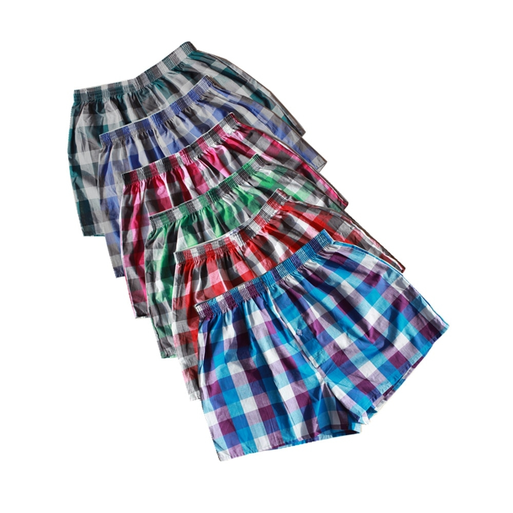 Men's Checked Cotton Underwear Shorts 4 Pcs Set #followme #me
