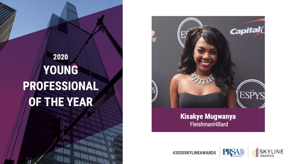 Congratulations CJC PR alumna Kisakye Mugwanya for being named @PRSAchicago Young Professional of the Year! We could not be prouder! @Fleishman @UFPRDepartment
