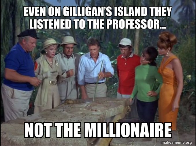 And they spent three years on that damned island. And were marooned there for another 11 years before escaping...and ending up back on the island.