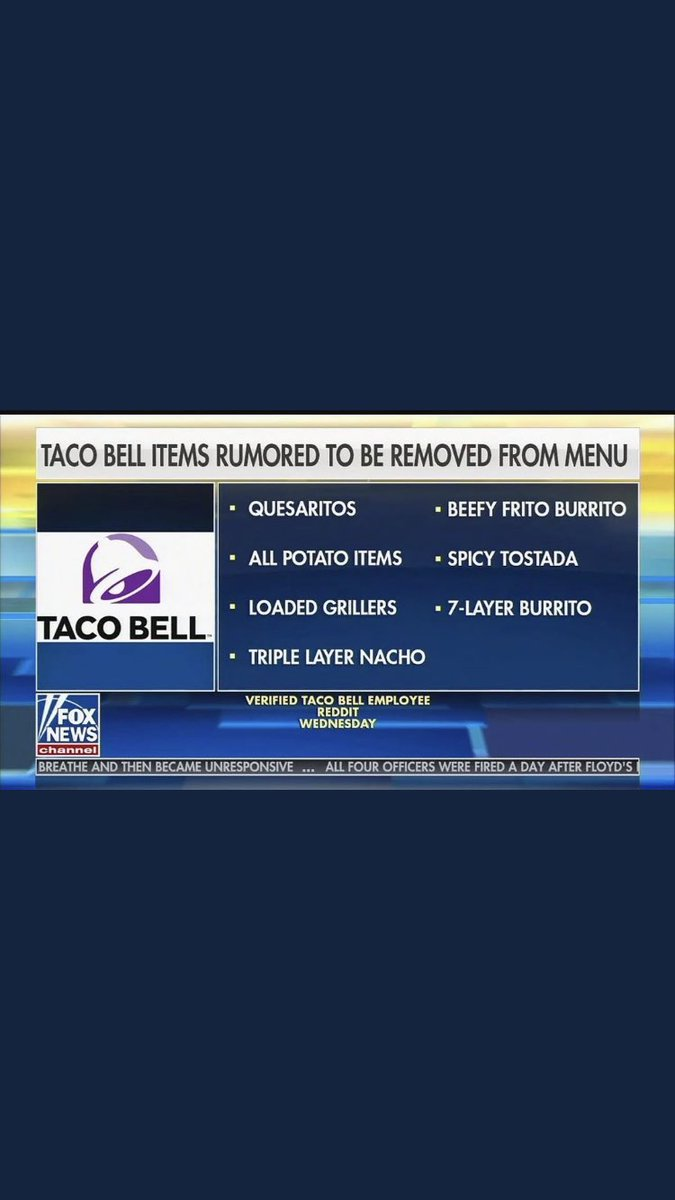 Taco Bell is no longer the move I regret to say https://t.co/uWST7eTQHe